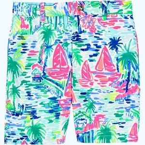 Lilly Pulitzer Beaumont Shorts Salt In The Air NWT